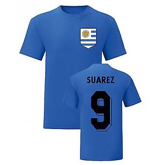 Luis Suarez Uruguayn kansallissankari Tee (sininen)