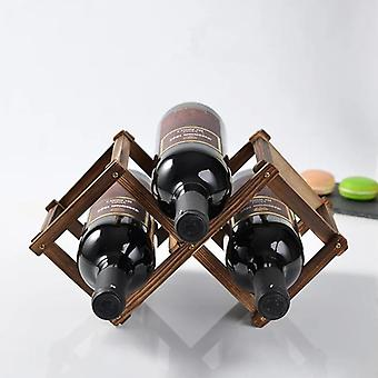 Wooden Red Wine Bottle Rack Holder