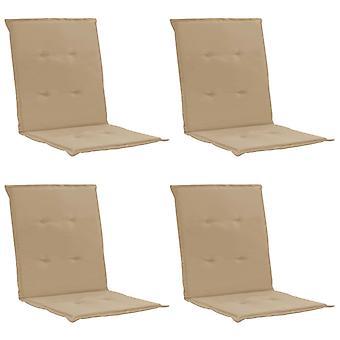 vidaXL hage stol utgave 4 stk. beige 100 x 50 x 3 cm