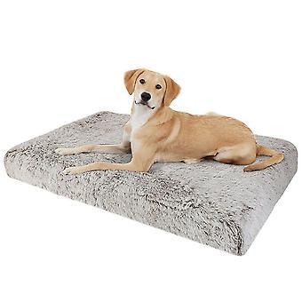 Cama extra grande para perros para mascotas Esponjoso suave cojín de felpa con cubierta extraíble lavable
