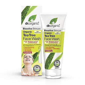 Dr. Organic Organisches Teebaum Gesichtsreinigungs Gel