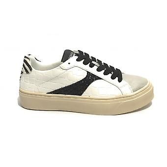 Women's Shoes Sneaker Gold&gold Ecopelle Bianco/ Silver/ Zebra Ds21gg13