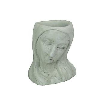 Long-Haired Maiden Cast Polyresin Head Planter Pot 8 Inches High