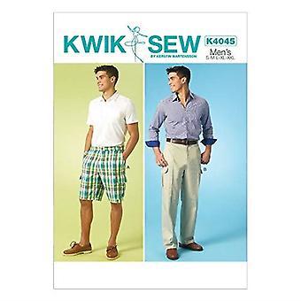 Kwik Sew Sewing Pattern 4045 Mens Shorts Pants Size S-XXL Uncut