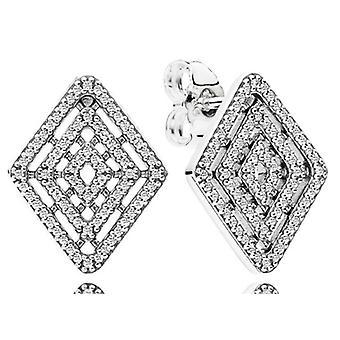 PANDORA des lignes géométriques boucles d'oreilles - 296208CZ