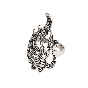 Retro Ethnical Ring Open Adjustable Phoenix Alloy Finger Ring