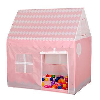 المنزلية الأطفال الطباعة لعب خيمة منزل لعبة صغيرة (وردي فاتح)