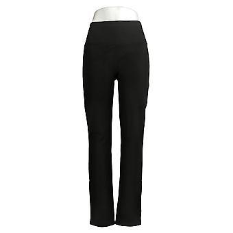 النساء مع المرأة السيطرة & ق السراويل الساق سليم أسود A391213