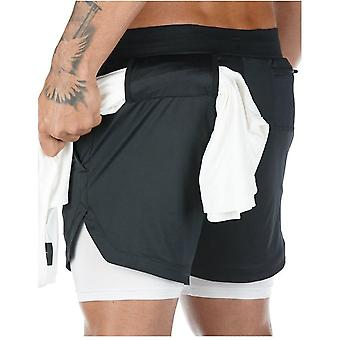 New Summer Running Shorts, 2 In 1 Sports Short Pants