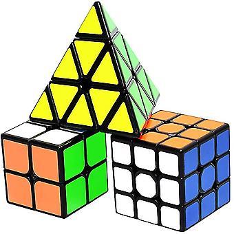 HanFei Zauberwrfel Set, Cube Set 2x2 3x3 Pyraminx, Speedcube Magic Speed Cube Puzzle Wrfel, Spielzeug