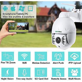 HanFei 5MP PTZ Kamera IP Dome berwachungskamera Aussen WLAN, 5-Fach Optischem Zoomobjektiv Outdoor