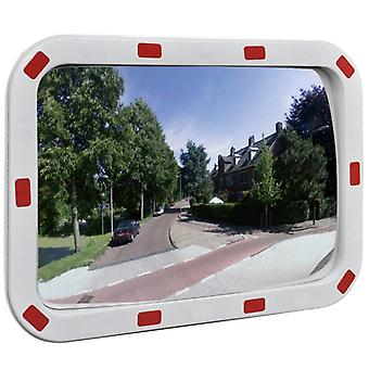 vidaXL مرآة المرور محدب مربع 40×60 سم مع عاكسات