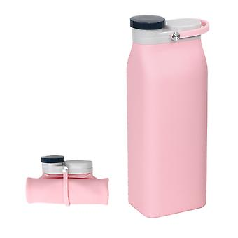 600ml silicone foldable water bottle, large capacity portable travel cup, leak-proof sports bottle