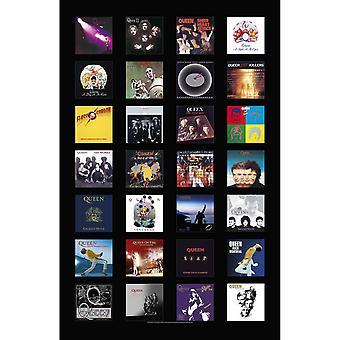 Queen Poster Album Dekker Band Logo ny Offisiell 70cm x 106cm Tekstil Flagg