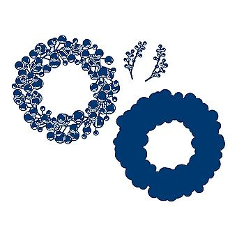 Tattered Lace Bauble Wreath Die Set