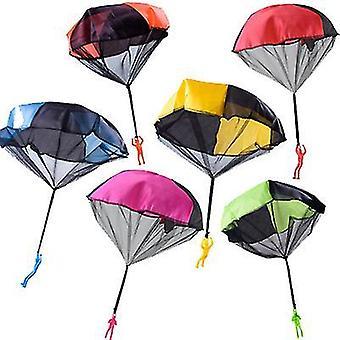 2Pcs 48 * 43cm verde lancio a mano paracadute quadrato spiaggia gettare a mano giocattolo giocattolo colore fluorescente az21886