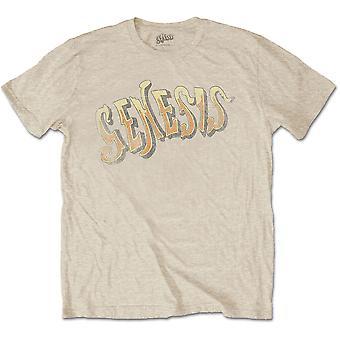 Genesis - Vintage Logo - Golden Menn XX-Large T-skjorte - Sand