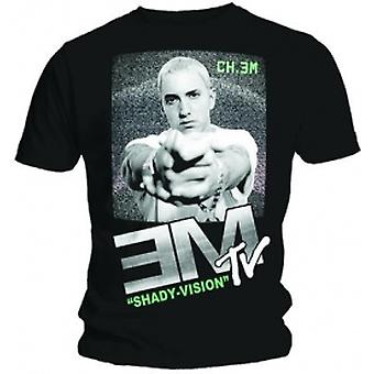 Eminem EM TV Mens Svart T-shirt: Stor
