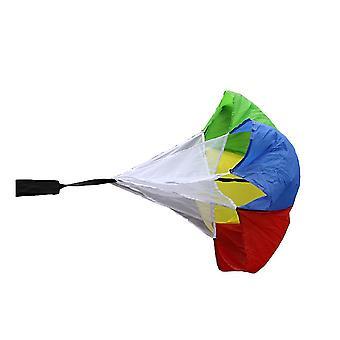 Kleurrijke weerstand parachute krachttraining fysieke fitness paraplu running equipment atletische sterkte paraplu benodigdheden voor buitensporten