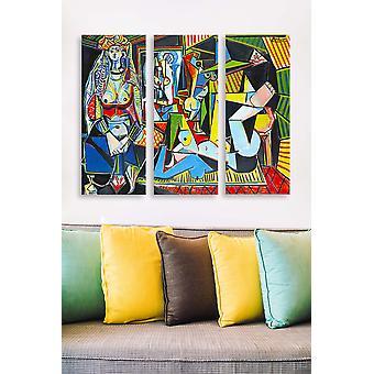 MDF0073 Flerfärgad dekorativ MDF-målning (3 stycken)