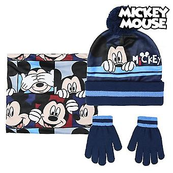 Hat, Gloves and Neck Warmer Mickey Mouse 74325 Navy blue (3 Pcs)