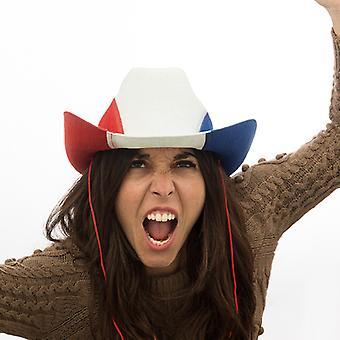 French Flag Cowboy Hat