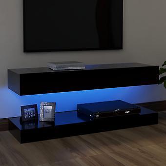 """vidaXL ארון טלוויזיה עם נורות LED שחור 120x35 ס""""מ"""