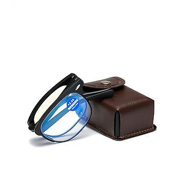Nya hopfällbara Tr Vintage Style Läsglasögon