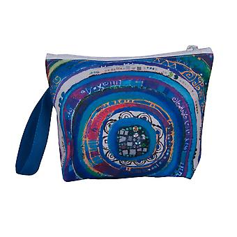 Biggdesign Evil Eye Makeup Bag, Tissu Coton/Polyester, Diamentions 24 x 12 cm