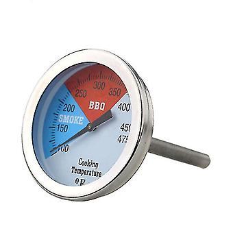 Bbq termometer rustfritt stål 100mm 100-475 ° Fdial temperaturmåler kjøkkenverktøy