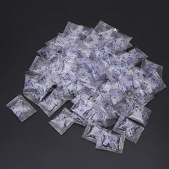 100 Packs 1g Silica Gel Desiccant Moisture Absorber Dehumidifier Drypack Non Toxic