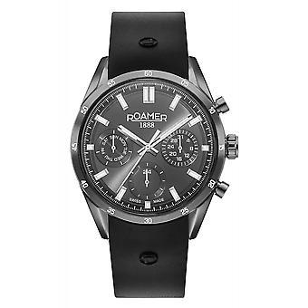 Roamer 508982 45 55 05 Men's Superior Day Date Rubber Strap Wristwatch