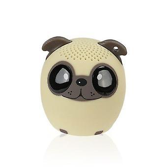 Cartoon Cute Mini High Quality Bluetooth Speaker Support Self Timer Hands FreeSpeakers(Beige Dog)