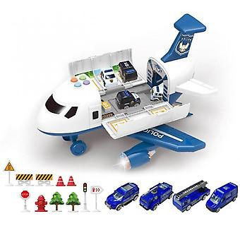 Aircraft Simulation With Lights Music Track Inertia Toy Airplane  Large Size Passenger Plane Kids Airliner Toy Car Gifts Police