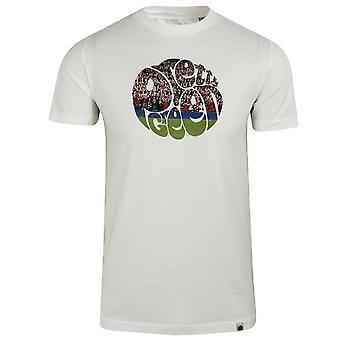 Pretty green men's white football crowd logo t-shirt