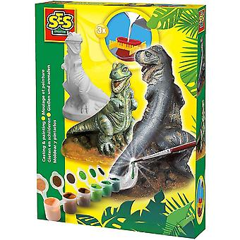 Wooden blocks children's t-rex casting and painting set unisex 5 to 12 years 01283