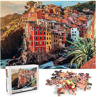 Mimigo Jigsaw Puzzles 1000 Pieces For Adults, Italy Cinque Terre Puzzles Intellectual Decompressing Fun Family Game Large Puzzle Adult Kid Game Toys G