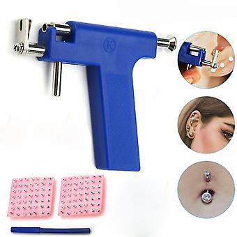 Conjunto de herramientas de pistola perforante de oído profesional 98pcs Espárragos de oído acero Nariz de oreja Cuerpo cuerpo de pistola perforante Unidad de herramientas Kit de herramientas Herramienta de perforación de seguridad
