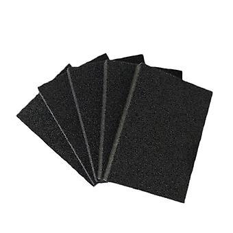 5 kpl 10 * 7 * 1,2 cm musta melamiinisienen pyyhekumi Keittiötoimiston kylpyhuoneen puhdas lisävaruste / astian puhdistus pesutyynyt