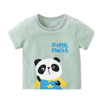 Baby Clothes Short-sleeved T-shirt Cartoon Print Top