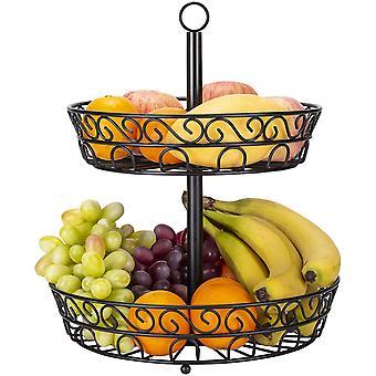 Fruit Basket Holder, 2 Tier Perfect Fruit Holder For Fruits, Vegetables