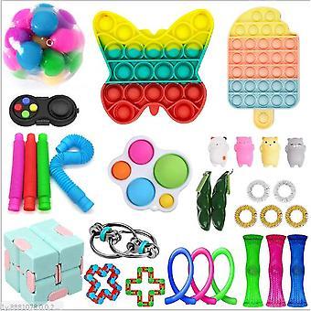 Sensory Decompression Toy Set Puzzle Diy Combination Toys -37