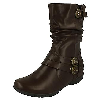 Ladies Down To Earth Flat Calf Boots F4389