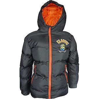 Boys Minions Winter Hooded Jacket / Coat