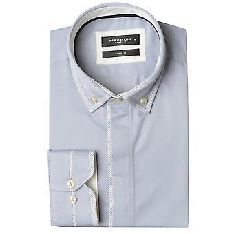 Oscar Banks Double Collar Trim Mens Shirt