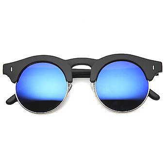 Mens semi-montuurloze zonnebril met UV400 beschermd gespiegelde Lens