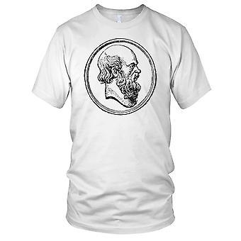 Sokrates klassiske greske filosofen B&W Mens T-skjorte