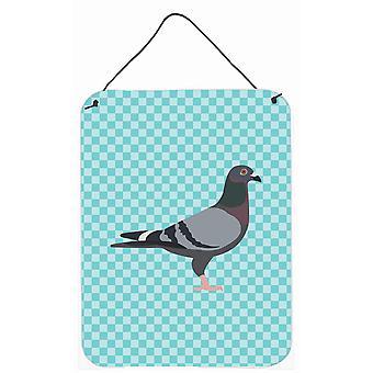 Racing Pigeon bleu cocher mur ou porte accrocher impressions