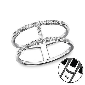 Bar - 925 Sterling Silver Midi Rings - W29451x