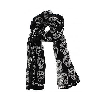 Attitude Clothing Black Skull Scarf